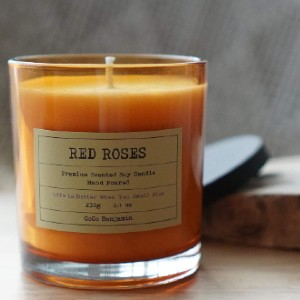 CoCo Benjamin Soy Candle - Best Rose Scented Candles: Vegan Soy Candle