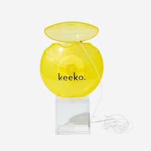 Keeko Coconut Tooth Floss - Best Dental Floss for Plaque Removal: Natural antibacterial treatment