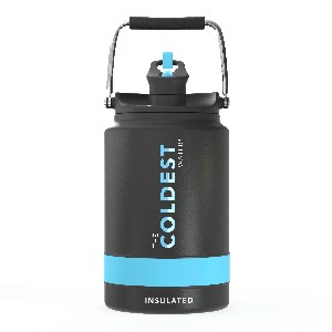 Coldest 1 Gallon Jug - Best 1 Gallon Insulated Water Jug: Water Jug with Straw in The Cap