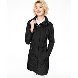 Cole Haan Water-Resistant Raincoat - Best Raincoats for Petites: Packable and Hits At Thigh