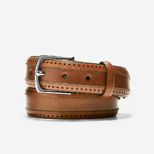 Cole Haan Dawson 32mm Perforated Belt - Best Men's Belt for Jeans: Belt with Brogue Detailing