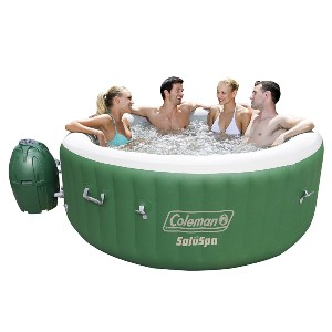 Coleman SaluSpa Inflatable Hot Tub Spa - Best Hot Tub for Cold Climates: Hot Tub with Leatheroid Pool Cover