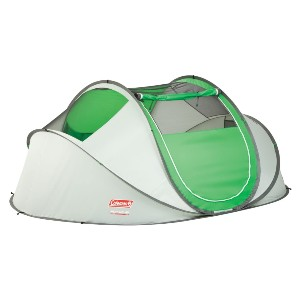Coleman 4-Person Pop-Up Tent - Best Easy Set Up Tents: Multi-Position Rainfly Tent