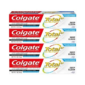 Colgate Total Toothpaste Deep Clean - Best Toothpaste to Use with Braces: Against germs up to 12 hours