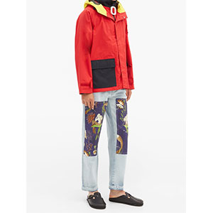 JW ANDERSON Colour-block shell parka - Best Raincoats Under 1000: Internal Patch Pocket and Hem Drawstrings