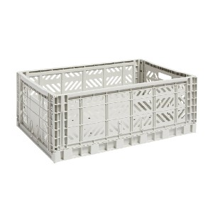 Hay Colour crate, L, light grey - Best Storage Containers for Clothes: Functional with industrial aesthetic