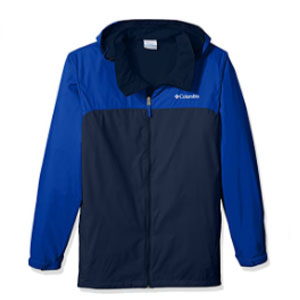 Columbia Men's Big and Tall Glennaker Lake Lined Rain Jacket - Best Raincoats for Hot Weather: Rain jacket with adjustable cuffs and drawcord