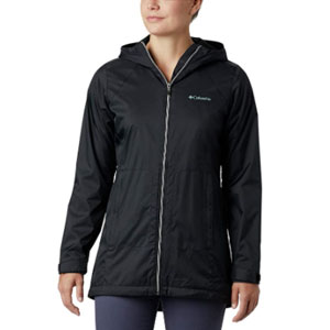 Columbia Store Switchback Lined Long Jacket - Best Raincoats for Florida: Two hand pockets raincoat jacket