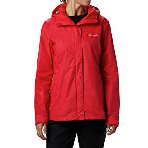 Columbia Women's Arcadia II Jacket Outerwear - Best Raincoats for Hiking: Comfortable and makes you look slim