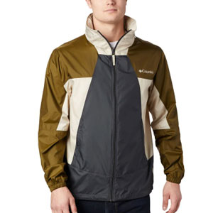 Columbia Men's Point Park™ Windbreaker – Tall - Best Jacket for Wind: Windbreaker jacket with stowaway hood