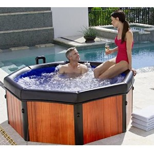Comfort Line Products Spa-N-A-Box Portable Spa - Best Four-Person Hot Tubs: Easy Set Up Hot Tub