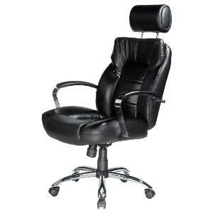 Comfort Products Commodore II Oversize Leather Chair with Adjustable Headrest - Best Office Chair for Sciatica: Leather Office Chair