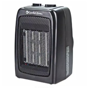 Comfort Zone Electric Ceramic Space Heater with Adjustable Thermostat - Best Energy Efficient Space Heaters: Energy saving settings
