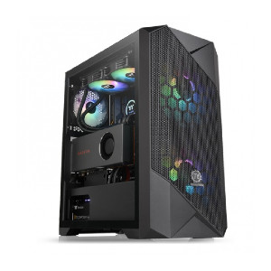 Thermaltake Commander G33 TG ARGB - Best PC Cases for Water Cooling: Sync with Motherboard RGB Software