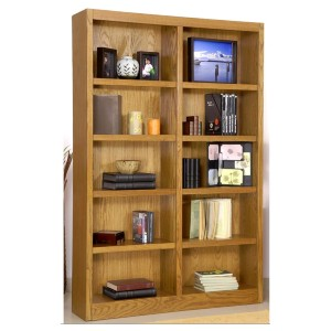 Concepts In Wood Double Bookcase Dry Oak Finish - Best Bookshelves on Amazon: Sturdy Bookcase