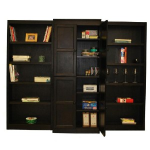 Concepts In Wood Espresso Finish - Best Bookshelves for Manga: 15 Shelves Wall Unit