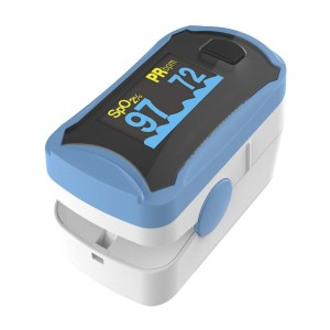 Concord Fingertip Pulse Oximeter with Lanyard  - Best Pulse Oximeter for Elderly: Multidirectional rotating display