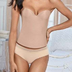 Venus Confidence Smooth Corset - Best Shapewear for Wedding Dress: Molded Cups have a Hidden Underwire Inside