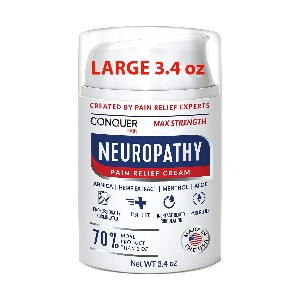 Conquer Pain Neuropathy Nerve Pain Relief Cream  - Best Foot Creams for Neuropathy: Cream with Unique Formulation