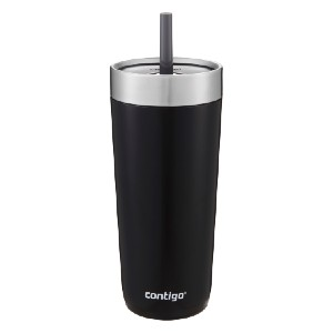 Contigo Luxe Stainless Steel Insulated Travel Tumbler with Spill-proof Lid and Straw - Best Tumbler with Straw: Straw with inner valve