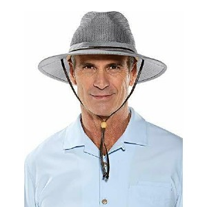 Coolibar UPF 50+ Men's Kaden Crushable Ventilated Hat - Best Bucket Hats for Golf: Perfect Protection Hat