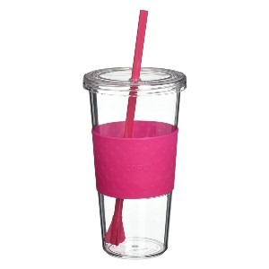 Copco Sierra Tritan Cold Tumbler with Removable Straw - Best Tumbler with Straw: Quarter-turn lid sealing design