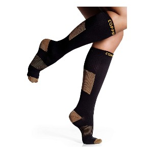CopperJoint Long Compression Socks - Best Compression Socks for Circulation: Promoting Natural Blood Circulation