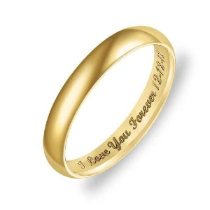 Yafeini Personalized Low Dome Engraved Ring - Best Jewelry for Engagement Ring: Best customizable pick