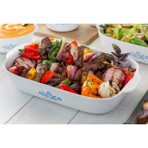 Corningware 3-Quart Bakeware Dish - Best Ceramic Baking Dishes: Non-Porous Surface Does Not Absorb Food Odors