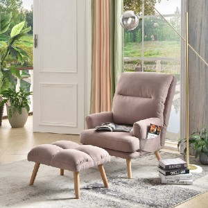 Corrigan Studio Melo Adjustable Lounge Chair and Ottoman - Best Lounge Chair for Back Pain: Adjustable Back Lounge Chair
