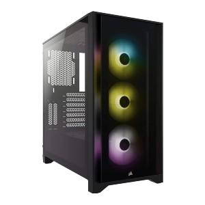 Corsair iCUE 4000X RGB - Best Cable Management PC Case: Fully Control and Synchronize the RGB Lighting
