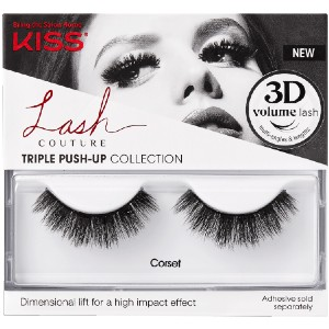 KISS Corset - Best Lashes for Hooded Eyes: Full and Fluffy Layers Extend and Curl for A Spiky Look