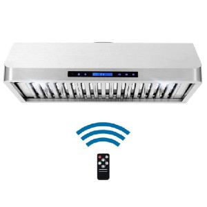 Cosmo 36 in. Ducted Under Cabinet Range Hood  - Best Range Hood for Chinese Cooking: Wireless remote control