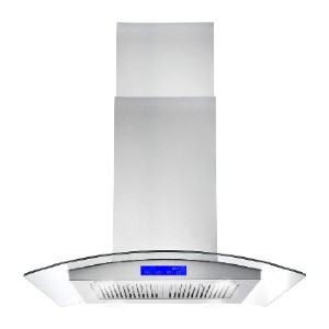 Cosmo 668ICS750 30 in. Island Mount Range Hood - Best Range Hood for Asian Cooking: Easy-to-clean filters