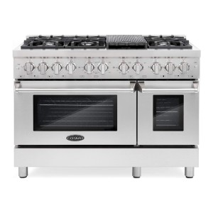Cosmo DFR486G 48 inch Freestanding Dual Fuel Range - Best Commercial Ranges for Restaurants: Right setting for any dish
