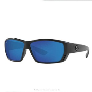 Costa Del Mar Men's Tuna Alley 580g Rectangular Sunglasses - Best Sunglasses for Fly Fishing: Blue Mirror Sunglasses