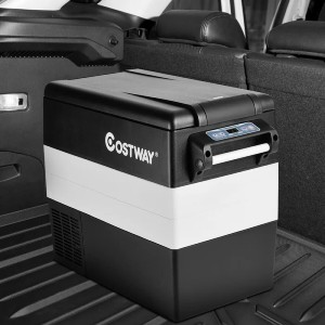 COSTWAY Electric Car Cooler  - Best Electric Car Coolers: Cooler with High-Configuration Compressor