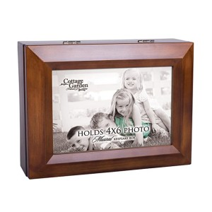 Cottage Garden Photo Frame Woodgrain Music Box - Best Music Box for Toddlers: Reminisce of memory