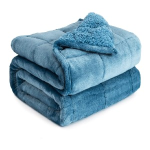 Cottonblue Sherpa Fleece Weighted Blanket - Best Weighted Blanket Amazon: Durable and Easy Maintenance