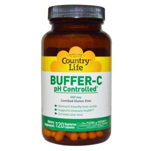 Country Life Buffer C Ph Controlled 500 Mg - Best Vitamin C Supplement for Adults: Non-Acidic Ingredients