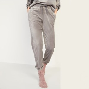Old Navy Cozy Velour Jogger Lounge Sweatpants for Women - Best Loungewear Pants: Stays in place