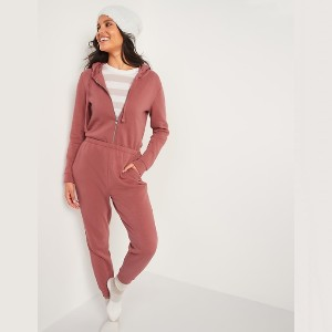 Old Navy Cozy Zip-Front Hoodie Jumpsuit for Women - Best Loungewear Sets for Women: Hoodie or a jumpsuit? Both!