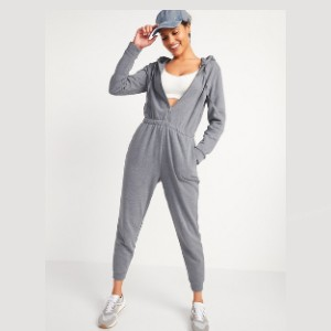 Old Navy Cozy Zip-Front Hoodie Jumpsuit for Women - Best Affordable Loungewear Sets: Hoodie or a jumpsuit? Both!