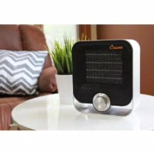Crane Space Heater with Brushed Aluminum Housing - Best Space Heater Quiet: Whisper-quiet heater