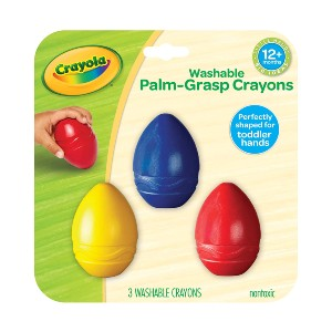 Crayola My First Palm Grip Crayons - Best Crayons for 1 Year Old: Egg Crayons