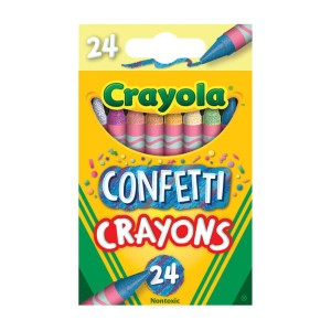 Crayola Confetti Crayons - Best Crayons for Adults: Great Confetti Crayons