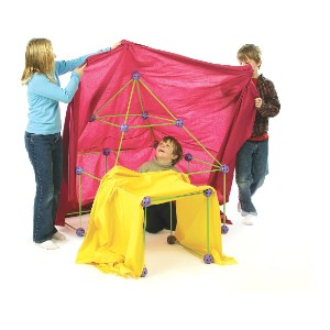 Crazy Forts Purple, 69 Pieces - Best Educational Toys for 5 Year Olds: Great for young builder