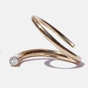 KATKIM Crescendo Pin Ring - Best Jewelry for Engagement Ring: Best stand-out design