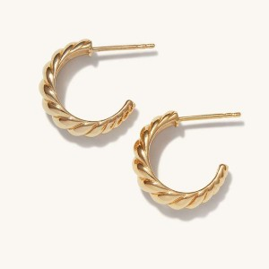 Mejuri Croissant Dôme Hoops - Best Jewelry for Sensitive Ears: Best for croissant lovers