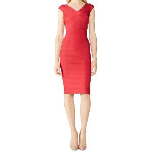 Herve Leger Cross Bust Bandage Dress - Best Dresses for Small Chest: Body-Conscious Silhouette